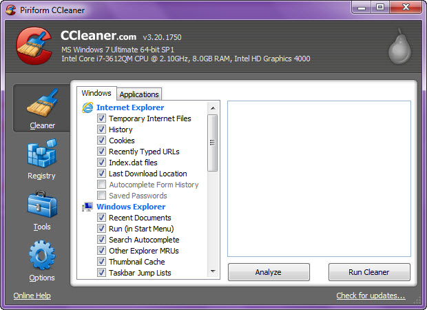 CCleaner Portable 3.24