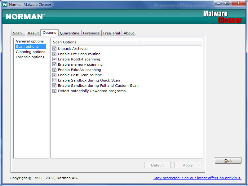 Norman Malware Cleaner 2014.01.07
