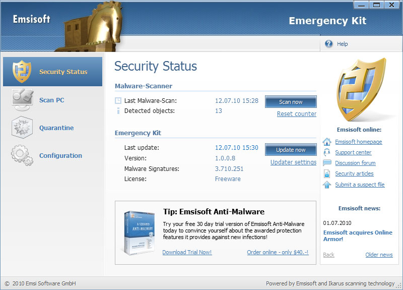 Emsisoft Emergency Kit 9.0.