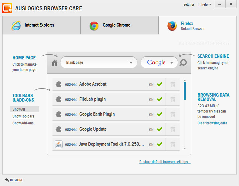 Auslogics Browser Care 2.3